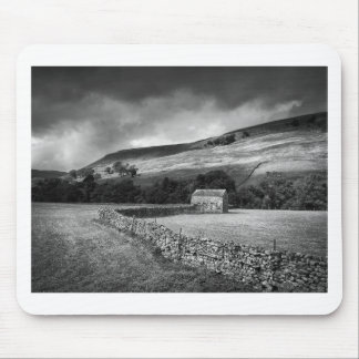 The Yorkshire Dales in mono Mouse Pad
