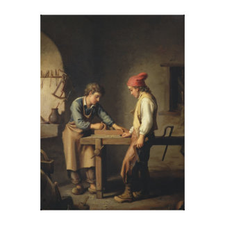 The Young Apprentice, before 1903 Canvas Print
