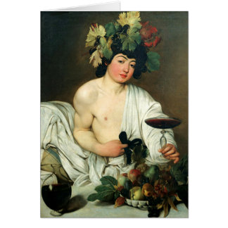The Young Bacchus, Caravaggio Greeting Card