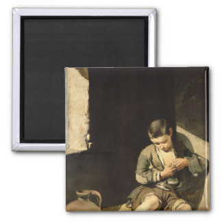 The Young Beggar, c.1650 Square Magnet