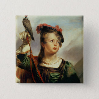The Young Falconer, 1835 (oil on panel) 15 Cm Square Badge