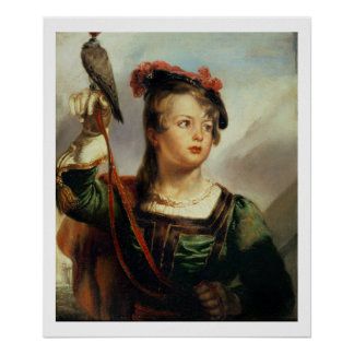 The Young Falconer, 1835 (oil on panel) Poster