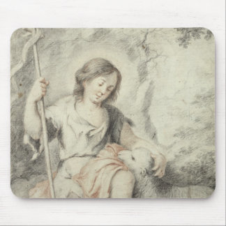 The Young John with the Lamb in a Landscape Mouse Pad