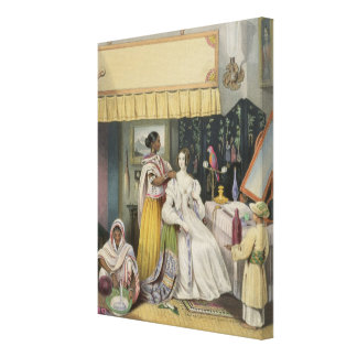 The Young Lady's Toilet, plate 2 from 'Anglo India Gallery Wrap Canvas