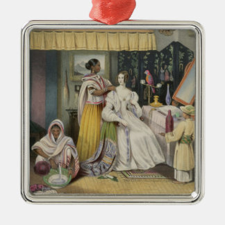 The Young Lady's Toilet, plate 2 from 'Anglo India Christmas Ornament