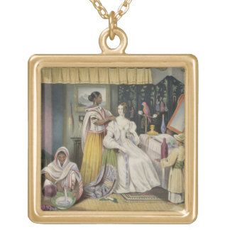 The Young Lady's Toilet, plate 2 from 'Anglo India Gold Plated Necklace