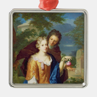 The Young Lovers Silver-Colored Square Decoration