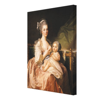 The Young Mother, c.1770-80 Canvas Print
