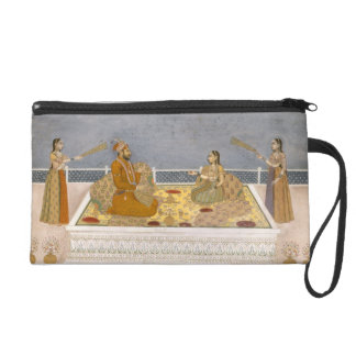 The young Mughal Emperor Muhammad Shah at a nautch Wristlet Purses