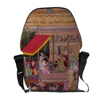The young Prince with his parents, from the 'Akbar Messenger Bags