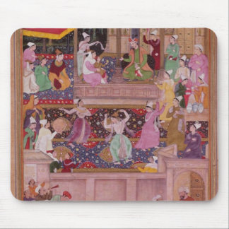 The young Prince with his parents, from the 'Akbar Mouse Pad