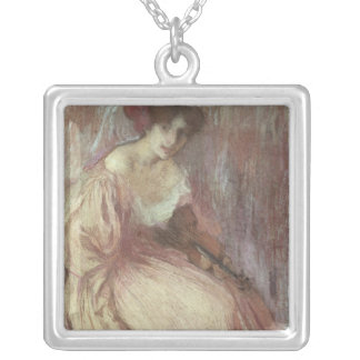 The Young Violinist Silver Plated Necklace