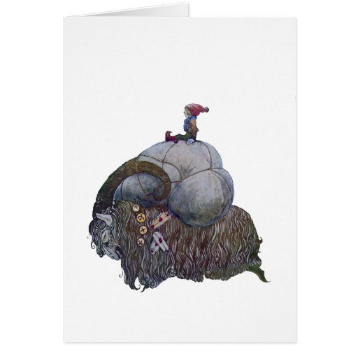 The Yule Goat Greeting Card