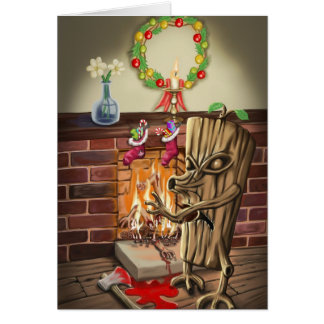 The Yule Logs Revenge Card