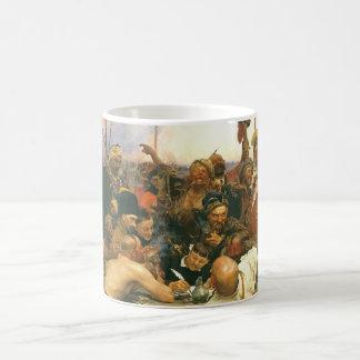 The Zaporozhian Cossacks by Ilya Yefimovich Repin Coffee Mug