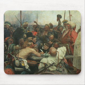 The Zaporozhye Cossacks writing a letter Mouse Pad