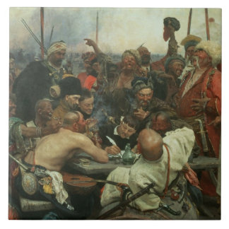 The Zaporozhye Cossacks writing a letter Tile