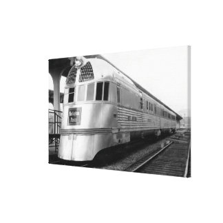 The ZepherStainless Steel Streamlined Train Canvas Print