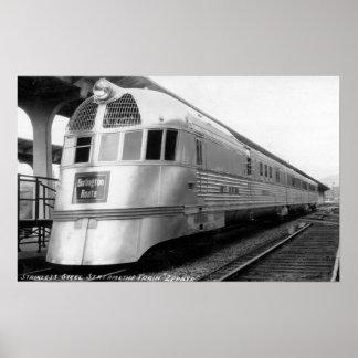 The ZepherStainless Steel Streamlined Train Print