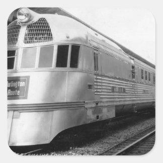 The ZepherStainless Steel Streamlined Train Square Sticker