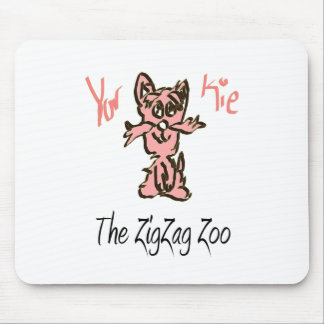 The ZigZag Zoo Friend - YorKie Mouse Pad