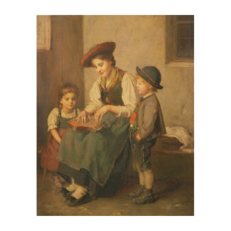 The Zither Player Wood Canvas