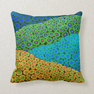 The Zoanthid Soft Coral Art Pillow Throw Cushions