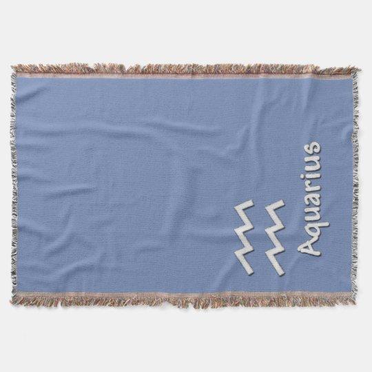 The zodiac sign Aquarius Throw Blanket