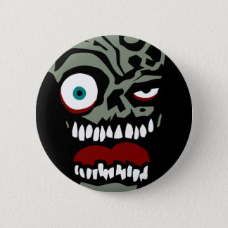 The Zombie face of doom 6 Cm Round Badge