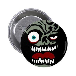 The Zombie face of doom 6 Cm Round Badge