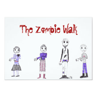 The Zombie invite... 13 Cm X 18 Cm Invitation Card