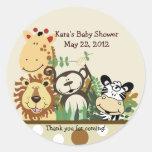 The Zoo Crew Jungle Animals Favour Sticker - Tan