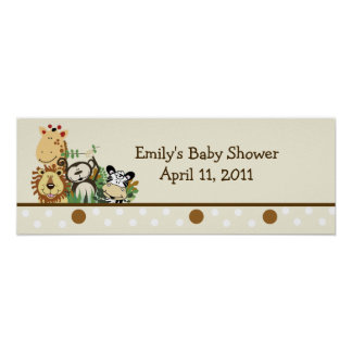 The Zoo Crew Jungle Customizable Banner - Tan Posters