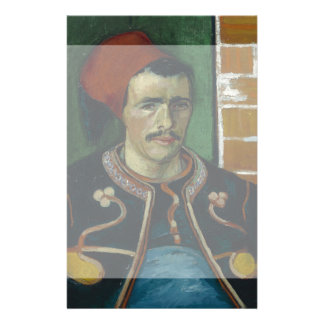 The Zouave by Vincent Van Gogh Custom Flyer
