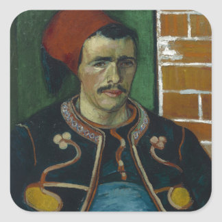 The Zouave by Vincent Van Gogh Square Stickers