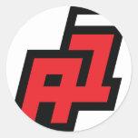 theanswer_logo_1 stricker classic round sticker