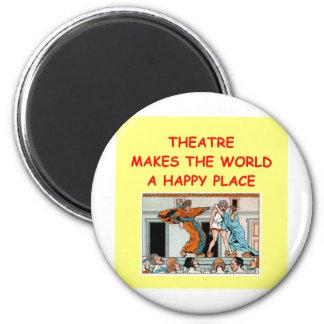 theater 6 cm round magnet