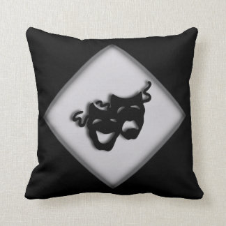 Theater Happy Sad Greek Masks Throw Pillow
