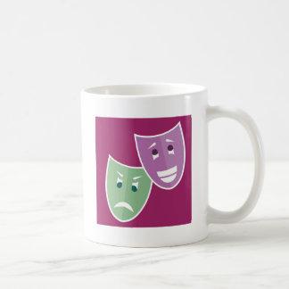 Theater masks basic white mug