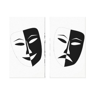 Theater Masks Canvas Print