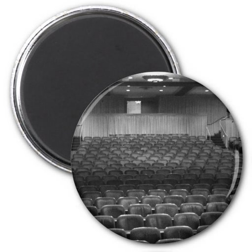 Theater Seating Black White Photo Magnet
