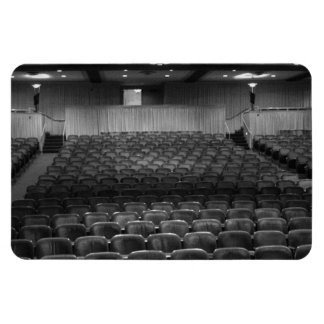 Theater Seating Black White Photo Rectangle Magnets