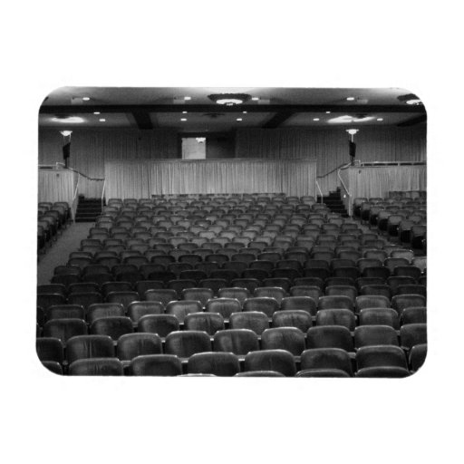 Theater Seating Black White Photo Rectangular Magnets
