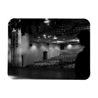 Theater Stage Black White Photo Flexible Magnet