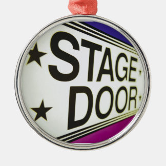Theater Stage Door Sign Christmas Ornament