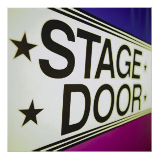 Theater Stage Door Sign Posters