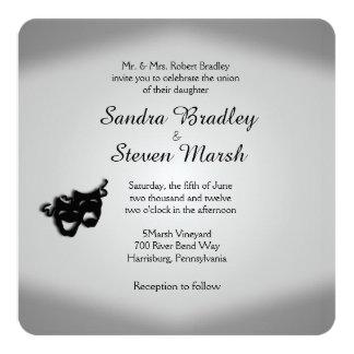 Theater Theme Wedding 13 Cm X 13 Cm Square Invitation Card