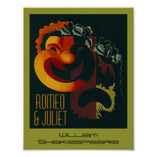 Theatre Arts Poster Romeo and Juliet Shakespeare