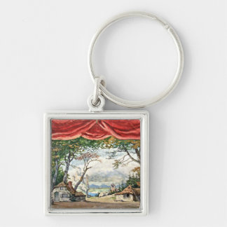 THEATRE BACKDROP DECOR, BALLET RUSES GISELLE CARD KEY RING