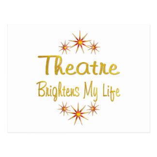 Theatre Brightens My Life Postcard